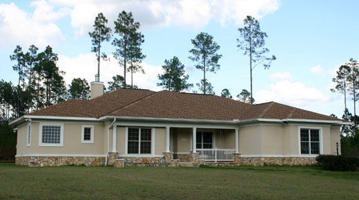 Lake City Florida Architects, Single Story Custom Home Design, Stucco And  Stone Exterior