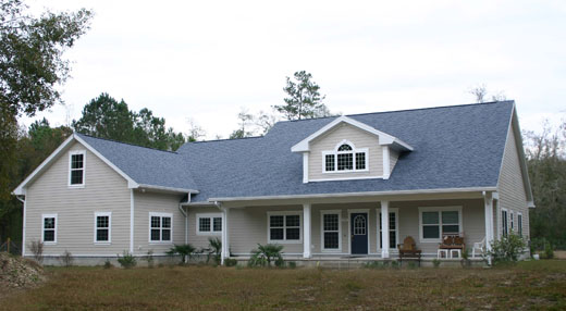 Micanopy Architects, custom country home design, functional dormer window, tall foyer ceiling