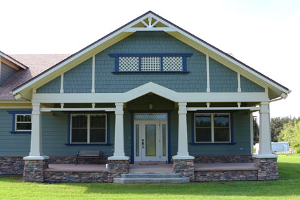 Custom Bungalow Home Front Porch Florida Architect