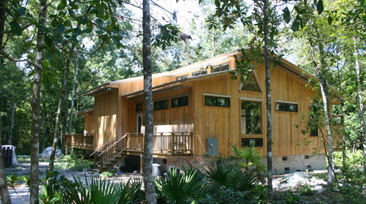 Suwannee River Architects, custom home design with crawl space, house design for wooded lot on river