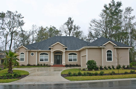 Residential Architect, florida home built from permit drawings, quality house plans, exterior photo