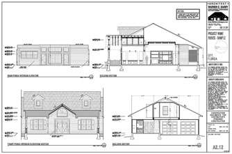 Residential Permit Drawings, custom home plans, building sections