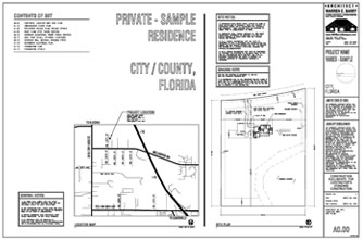 Architectural Construction Documents Custom Home Plans Site Plan Map Contents Of