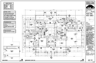 Custom home plans dimensioned floor plan florida architect for Electrical as built drawings sample