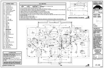 Custom House Plans: Electrical Drawings, Florida Architect