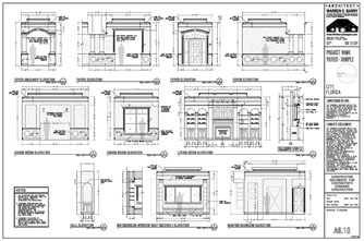 Dream House Plans Custom Home Interior Elevations Kitchen Trim Work