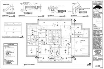Custom House Plans: Reflected Ceiling Plan, Florida Architect